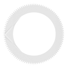 Beautiful silver (gray colored) ring with detailed geometric pattern texture on white (transparent) background. Vector illustration, EPS10. Can be used as background, backdrop, montage, etc.