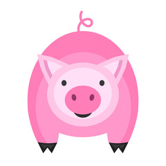 Cute pig icon. Vector illustration for your cute design.