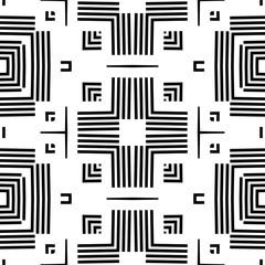 Seamless geometric monochrome striped pattern