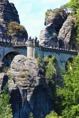 Sächsische Schweiz, Basteibrücke, Leute