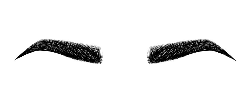 eyebrow perfectly shaped. permanent make-up and tattooing. Cosmetic for eyebrows.