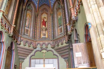 Molsheim. Intérieur de la chapelle Notre-Dame . Bas Rhin, Alsace. Grand Est