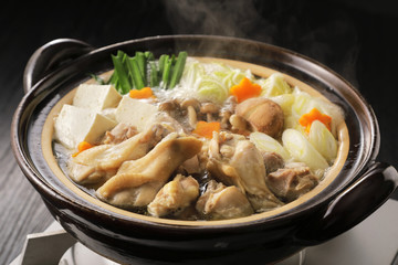鶏鍋 Japanese chicken hot pot