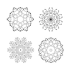 Snowflake Thin Line Icon Collection