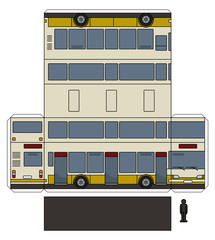 The simple paper model of a double decker