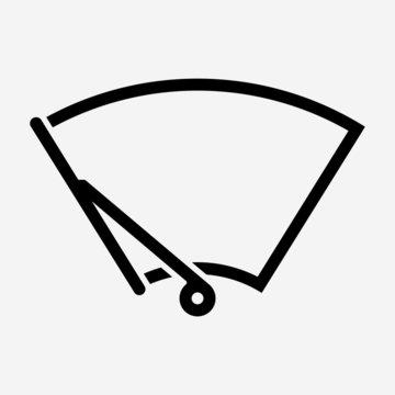 Outline beautiful automobile wiper vector icon