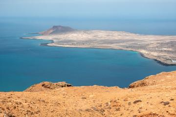 view of the graciosa island from the mirador del rio