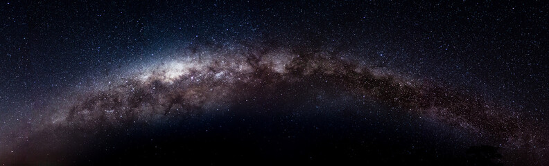 complete picture of the Milky Way made with 14 pictures