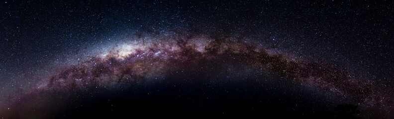 complete picture of the Milky Way made with 14 pictures.
