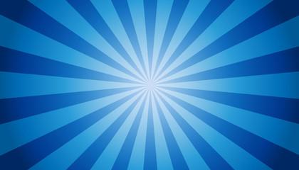 Blue Sunburst Background - Vector Illustration Fototapete