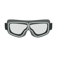 motorcycle protective goggles   vintage flat style vector