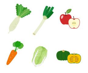 冬の野菜| アイコンイラスト