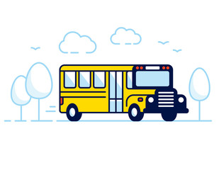 Classic yellow school bus