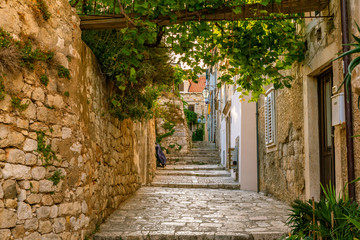 A old path with some old stony stairs in Dubrovnik