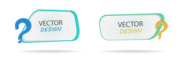 Vector banner with question mark. Frame for text. Frame for the banner. Block with a note on the site. Cartoon frame for text. Design for school postcards
