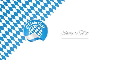 Oktoberfest Bavarian blue logo icon banner