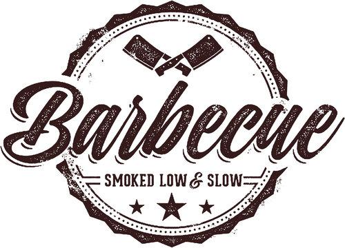 Vintage Barbecue Meat Menu Stamp