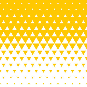 Abstract yellow and white triangle halftone pattern background. Vector seamless pattern of irregular mosaic color transition for modern trend background design