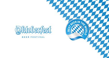 Oktoberfest Best Beer in the World blue logo background