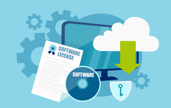 Vector of software licensing concept