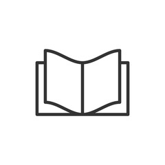 Book education icon in flat style. Literature magazine vector illustration on white isolated background. Book paper business concept.