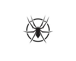 Spider logo vector illustrations