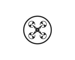 Drone logo and symbol vector illustration