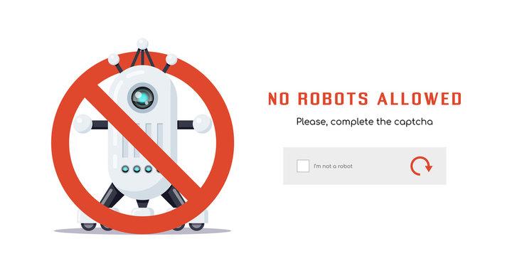 No robots allowed