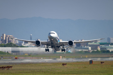 Boeing 787-8 takeoff