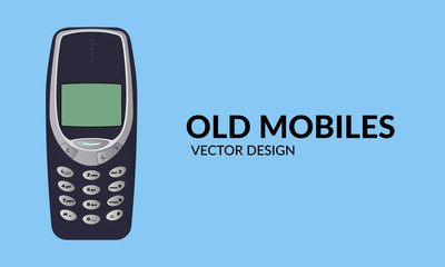 Old Mobile Phone - Vector Design