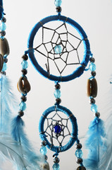 Blue Dream catcher and feathers