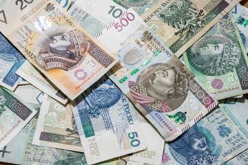 polish money background, 500 pln
