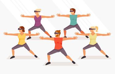 Yoga in virtual glasses