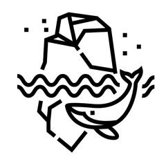 Iceberg Line Icon