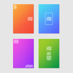 Modern Abstract Halftone Flyer or Banner Vector Template
