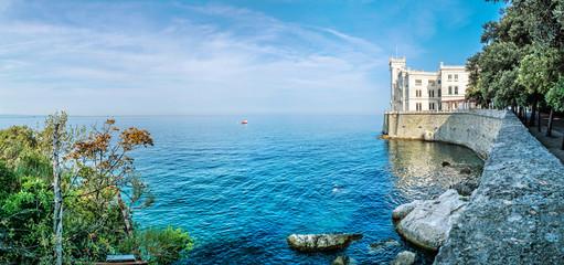 Miramare castle near Trieste, northeastern Italy