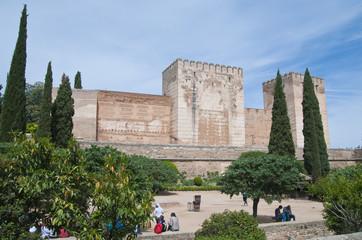 Aluminium Prints Artistic monument Alcazaba, Alhambra, Granada, Andalusien, Spanien