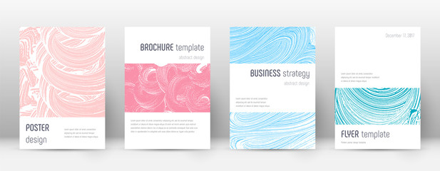 Cover page design template. Minimalistic brochure layout. Comely trendy abstract cover page. Pink an