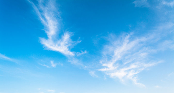 Cloudscape in sunny day of summer