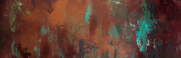 rusty texture, background, pattern, design, long banner Wall mural