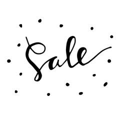Sale. Hand drawn word