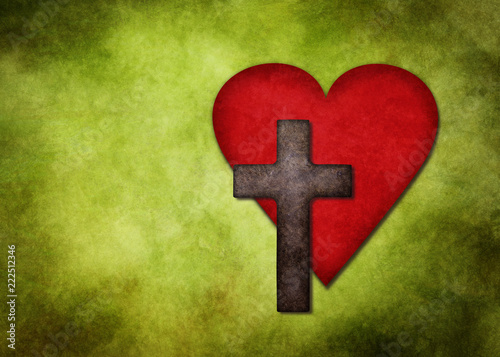 Heart And Cross As A Symbol Of Gods Eternal Love For The Humankind