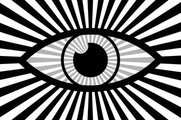 Eye abstract background - black, gray and white vector pattern