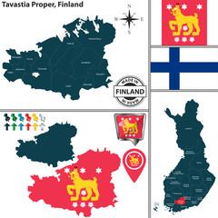 Map of Tavastia Proper, Finland