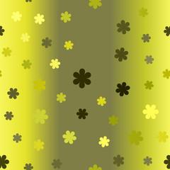 Gradient flower pattern. Seamless vector