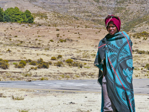 In the African Kingdom of Lesotho, the Basotho people wear traditional tribal blankets on special occasions.