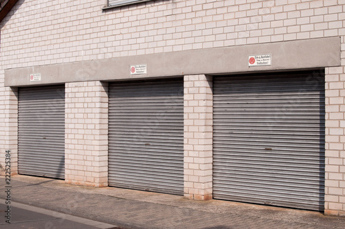 Three Heavy Duty Garage Doors Stock Photo And Royalty Free Images