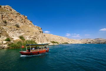 Halfeti versunkene Stadt in Urfa / Sanliurfa / Türkei am See / Fluss Firat