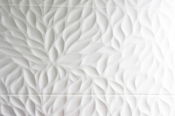 White relief wall