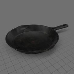 Iron frying pan
